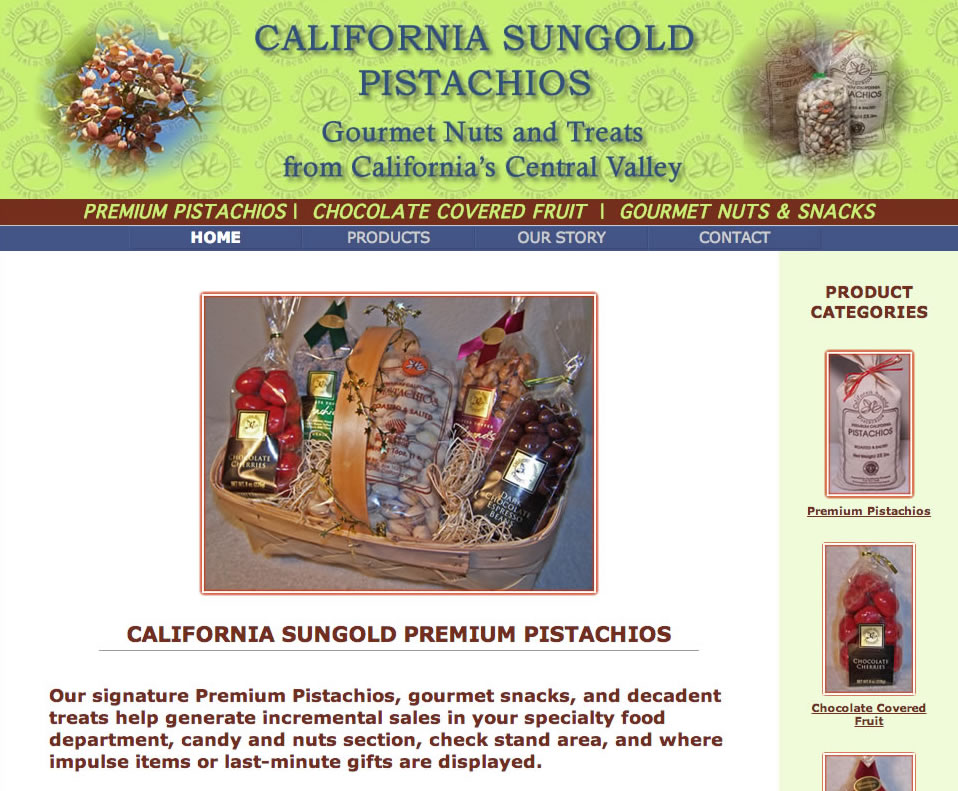 California Sungold Pistachios screenshot